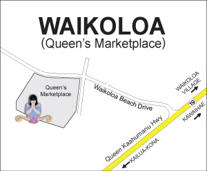 Map to Waikoloa Queen Shops Location